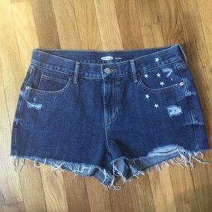 Old Navy Boyfriend Distressed Shorts